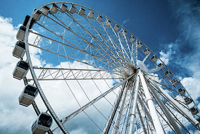 Photograph - Great Smoky Mountain Ferris Wheel by Mary Lee Dereske