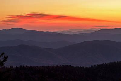 Photograph - Great Smoky Mountain Sunrise by Teri Virbickis