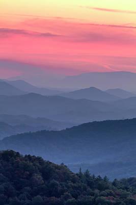 Photograph - Great Smoky Mountain Sunset by Teri Virbickis