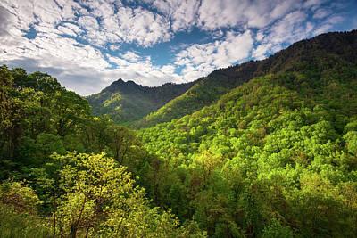 Sunrise Photograph - Great Smoky Mountains Gatlinburg Tn Spring Scenic Landscape by Dave Allen