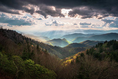 Photograph - Great Smoky Mountains National Park North Carolina Scenic Landscape by Dave Allen