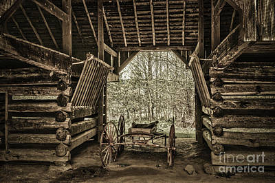 Great Smoky Mountains National Park, Tennessee - Broken Wagon. Cades Cove Art Print