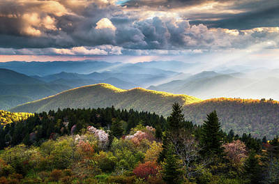 Great Smoky Mountains National Park - The Ridge Art Print