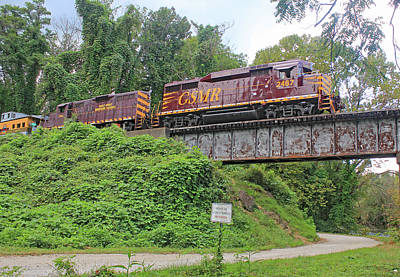 Photograph - Great Smoky Mountains Railroad 9 2 G by Joseph C Hinson Photography
