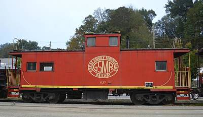 Photograph - Great Smoky Mountains Railroad Caboose by rd Erickson