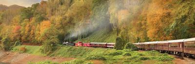 Digital Art - Great Smoky Mountains Railroad by Lori Deiter