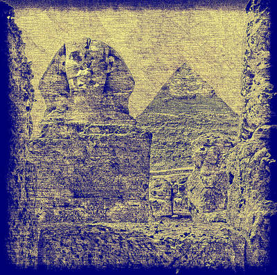 Great Sphinx And Pyramid Of Khafre Art Print