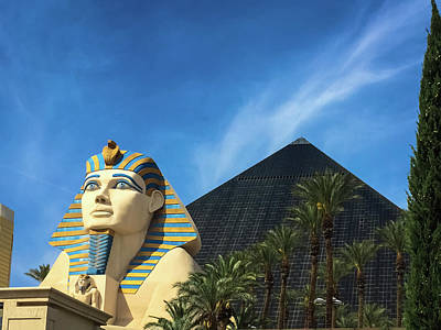 Photograph - Great Sphinx Of Giza At The Luxor Resort - Las Vegas by Debra Martz