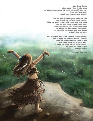 Painting - Great Spirit Prayer by Brandy Woods