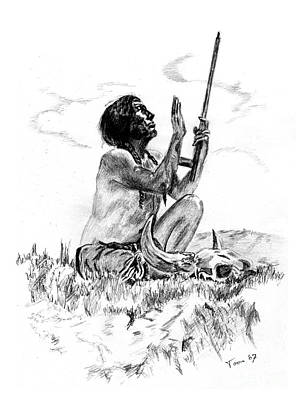 Drawing - Great Spirit by Toon De Zwart