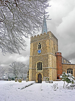 Photograph - Great St Mary's In Winter by Gill Billington