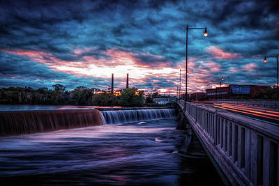 Photograph - Great Stone Dam Sunset by Lilia D