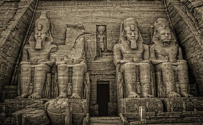 Photograph - Great Temple Abu Simbel  by Nigel Fletcher-Jones