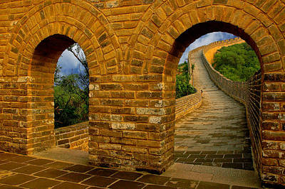 Photograph - Great Wall Of China by Harry Spitz