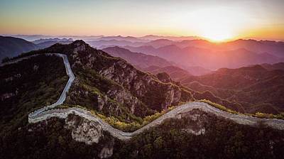Photograph - Great Wall Sunset by DLP Squared Photography