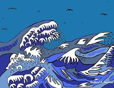 Great Wave 2011 Art Print by Richard Heyman