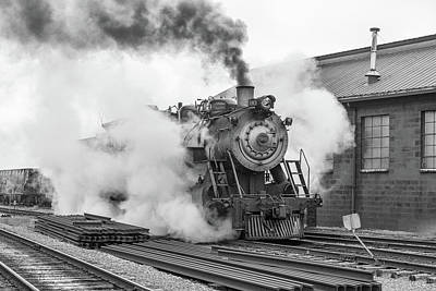 Photograph - Great Western 90 Boiler Blow Down by Jeff Abrahamson