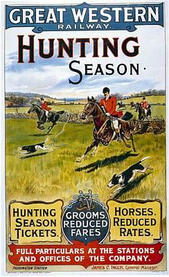 Western Art Mixed Media - Great Western Railway - Hunting Season - Retro Travel Poster - Vintage Poster by Studio Grafiikka