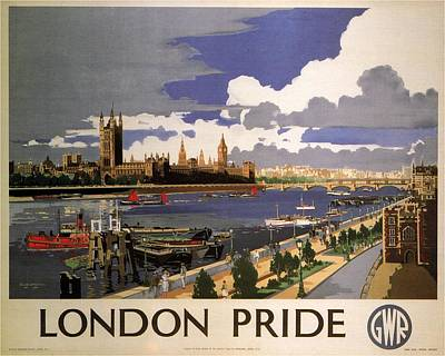 Train Mixed Media - Great Western Railway - London Pride - Retro Travel Poster - Vintage Poster by Studio Grafiikka