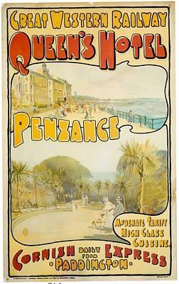Western Art Mixed Media - Great Western Railway - Queen's Hotel - Retro Travel Poster - Vintage Poster by Studio Grafiikka