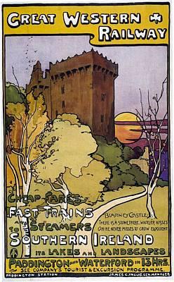 Western Art Mixed Media - Great Western Railway - Southern Ireland - Retro Travel Poster - Vintage Poster by Studio Grafiikka