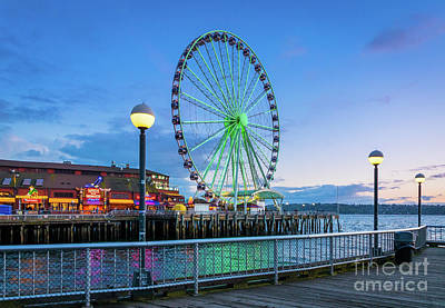 Photograph - Great Wheel Sunset by Inge Johnsson