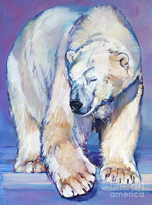 Gravity Painting - Great White Bear by Mark Adlington