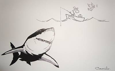 Great White Chance Art Print