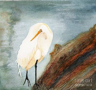 Great White Egret Art Print by Georgia Johnson