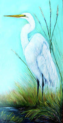 Painting - Great White Egret by Loretta Luglio
