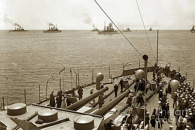 Photograph - Great White Fleet's April 1908 by California Views Mr Pat Hathaway Archives