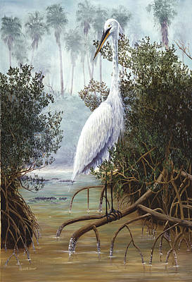 Painting - Great White Heron by Kevin Brant