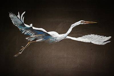 Painting - Great White Heron by Khalid Saeed