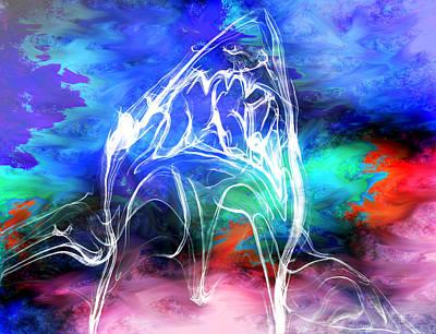 Shark Digital Art - Great White Shark Kisses by Abstract Angel Artist Stephen K