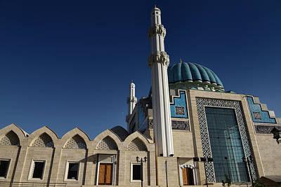 Caligraphy Photograph - Great Windows Of Modern Hoca Ahmet Yesevi Mosque In Turkistan Ka by Reimar Gaertner