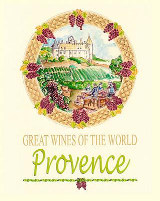 Provence Mixed Media - Great Wines Of The World - Provence by John Keaton
