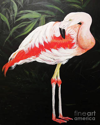 Painting - Greater Flamingo by Lizi Beard-Ward
