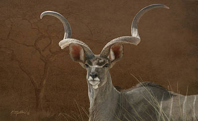 Painting - Greater Kudu by Kathie Miller