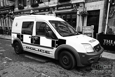 Police Van Photograph - greater Manchester police patrol small van ford transit connect uk by Joe Fox