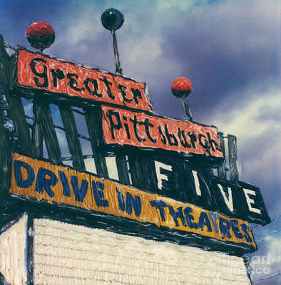 Greater Pittsburgh Five Drive-in Art Print by Steven  Godfrey