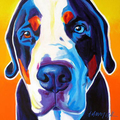 Greater Swiss Mountain Dog - Baron Art Print by Alicia VanNoy Call