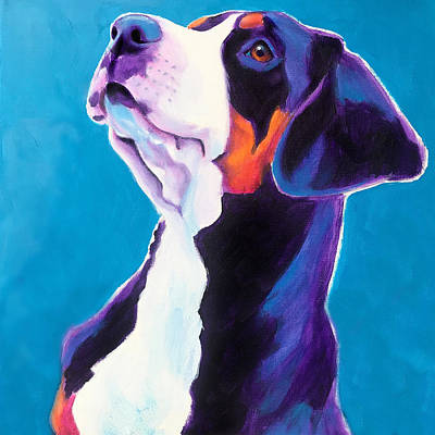 Painting - Greater Swiss Mountain Dog - Defender by Alicia VanNoy Call