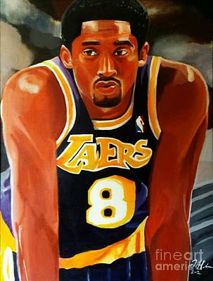 Kobe Painting - Greatness Part2 by Jason Majiq Holmes