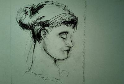 Drawing - Grecco Girl by Mykul Anjelo