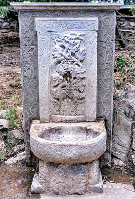 Photograph - Grececian Well by Linda Constant