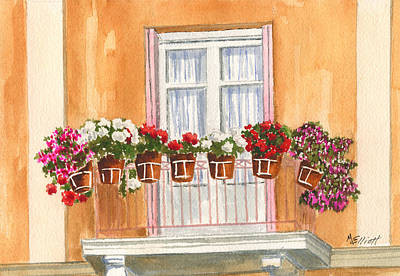 Grecian Balcony Art Print
