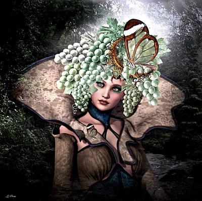 Grecian Grape Girl 2   Art Print
