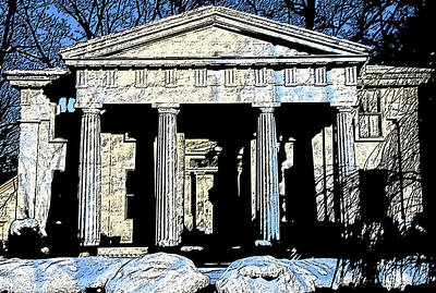 Photograph - Grecian Manse by Mark Alesse