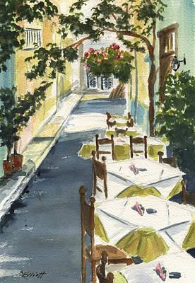Grecian Taverna Original by Marsha Elliott