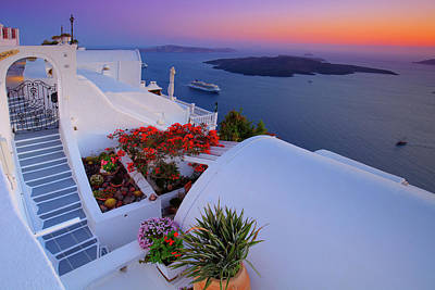 Photograph - Sunrise In Santorini  by Emmanuel Panagiotakis
